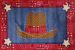 Fun Rugs Supreme Cowboy Quilt TSC-245 Multi Area Rug