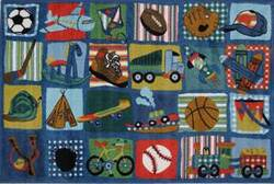 Fun Rugs Supreme Funky Boys Quilt TSC-248 Multi Area Rug