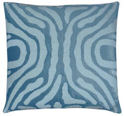 Lili Alessandra Zebra Pillow L130 Seafoam - Ivory
