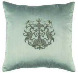 Lili Alessandra Crest Pillow L142 Blue