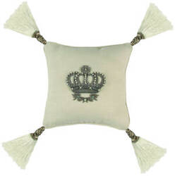 Lili Alessandra Imperial Crown Pillow L320 White