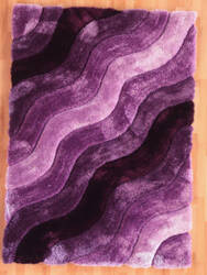 Linon Links Lk11 Purple Area Rug