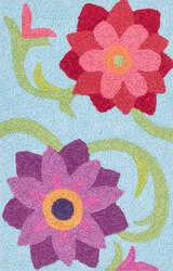 Loloi Angelou AN-07 Light Blue / Berry Area Rug