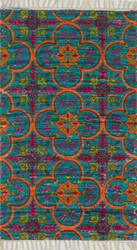Loloi Aria AR-13 Blue / Orange Area Rug