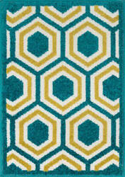 Loloi Terrace TC-01 Peacock / Citron Area Rug