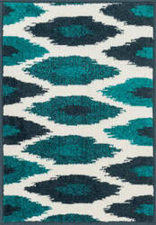 Loloi Terrace TC-03 Ivory / Peacock Area Rug