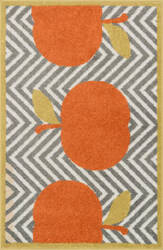 Loloi Tilley TI-04 Grey / Orange Area Rug
