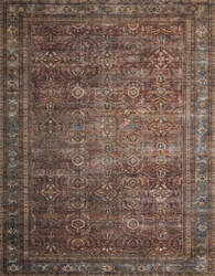 Loloi II Layla Lay-01 Brick - Blue Area Rug