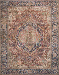 Loloi II Layla Lay-08 Red - Navy Area Rug