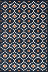Loloi Oasis Os-03 Navy / Orange Area Rug