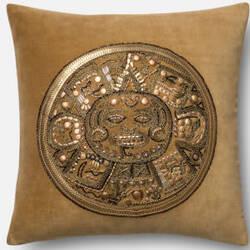 Loloi Pillow P0437 Gold - Gold