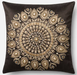 Loloi Pillow P0439 Brown - Gold
