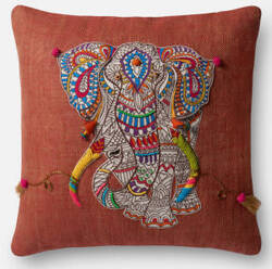 Loloi Pillow P0492 Rust - Multi