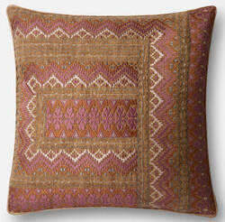 Loloi Pillow P0497 Pink - Rust
