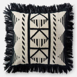 Loloi Pillow P0501 Black - Ivory