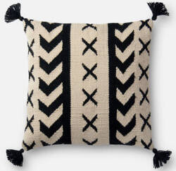 Loloi Pillow P0502 Black - Ivory