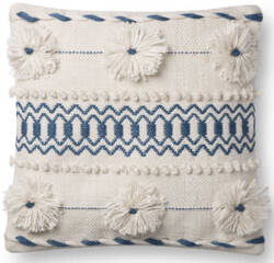 Loloi Pillows P0729 Natural - Blue