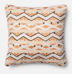 Loloi Pillow P0401 Orange - Ivory