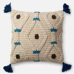 Loloi Pillow P0486 Ivory - Blue