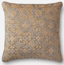 Loloi Pillow P0489 Beige - Silver