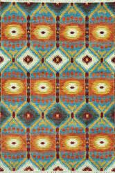 Loloi Spencer Sc-05 Hm Collection Aqua / Rust Area Rug