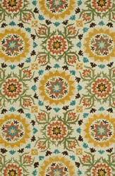 Loloi Taylor Hty04 Ivory / Green Area Rug