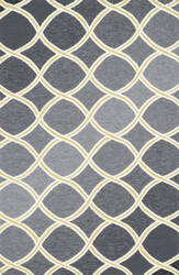 Loloi Venice Beach VB-18 Charcoal / Lime Area Rug
