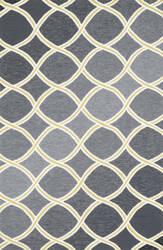 Loloi Venice Beach VB-18 Charcoal / Lime Area Rug