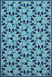 Loloi Venice Beach Vb-27 Light Blue - Navy Area Rug
