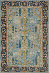 Loloi Victoria Vk-12 Light Blue - Dark Blue Area Rug