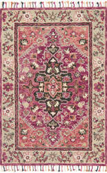 Loloi Zharah Zr-05 Raspberry - Taupe Area Rug