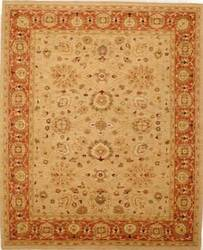 Lotfy and Sons Mahal 213 Beige/Rust Area Rug