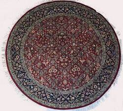 Lotfy and Sons Isfahan AC-55 Red/Dark Blue Area Rug