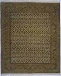 Lotfy and Sons Prestige Tabriz Heraty Ivory/Light Green Area Rug