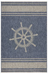 Lr Resources Captiva 81025 Navy - Gray Area Rug
