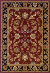 Lr Resources Adana 80371 Red - Black Area Rug