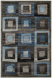 Lr Resources Adana 80377 Grey - Blue Area Rug