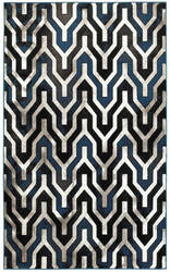 Lr Resources Adana 80385 Black - White Area Rug