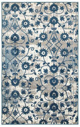Lr Resources Adana 80387 Light Beige - Soft Blue Area Rug