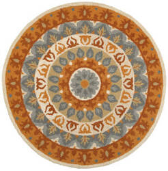 Lr Resources Dazzle 54064 Gray - Rust Area Rug