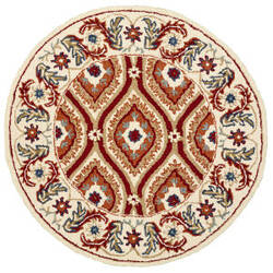 Lr Resources Dazzle 54065 Ivory - Red Area Rug