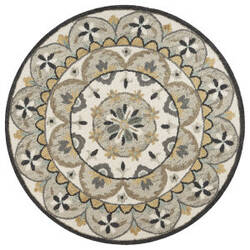 Lr Resources Dazzle 54100 Gray - Cream Area Rug