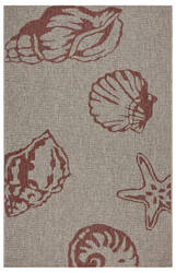 Lr Resources Captiva 81018 Red - Beige Area Rug