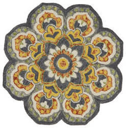 Lr Resources Dazzle 54078 Gray Area Rug