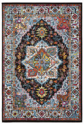 Lr Resources Fusion 81345 Black - Blue Area Rug