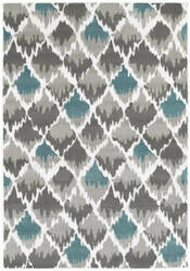 Lr Resources Grace 81124 Gray - Light Blue Area Rug