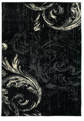 Lr Resources Infinity 81307 Black - Anthracite Area Rug