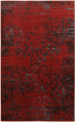 Lr Resources Matrix 81155 Burgundy - Black Area Rug