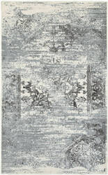 Lr Resources Matrix 81177 Gardenia - Silver Blue Area Rug