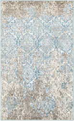 Lr Resources Matrix 81193 Light Beige - Light Blue Area Rug